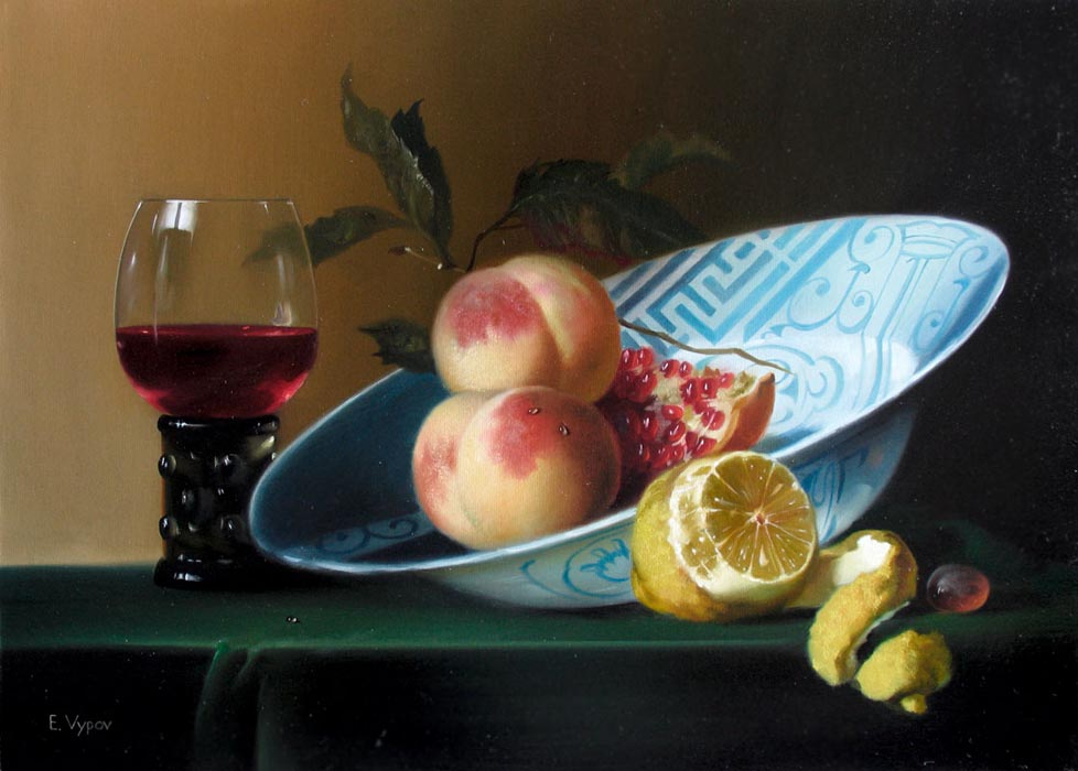 "Evgeni Vypov "" Still life"" oil on canvas 40x50 private collections in France"